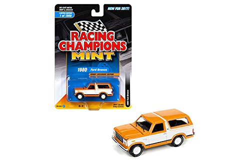 NEW 1:64 RACING CHAMPIONS 2017 MINT COLLECTION - Orange 1980 Ford Bronco Diecast Model Car By Racing Champions