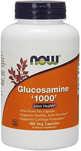 Now Supplements, Glucosamine '1000', with UL Dietary Supplement Certification, 1 g Per Capsule, 180 Veg Capsules