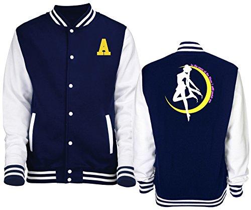 felpa Unisex Tipo New Luna Sailor College Indastria Giacca Varsity Blu Moon qwtnETC