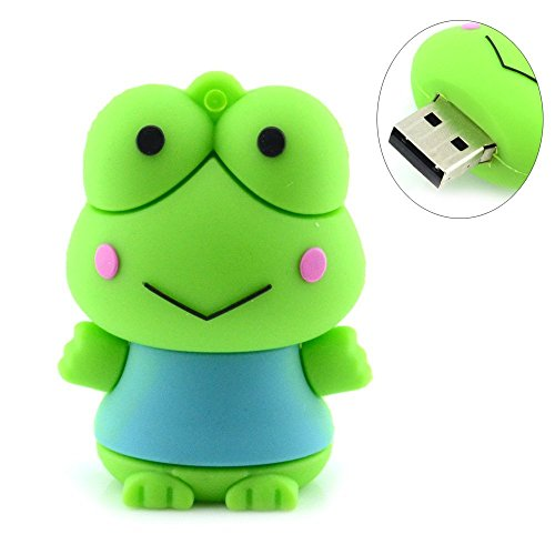 COMTOP USB Drives Cute Frog Shape USB Flash Drives 16GB (green) (Drive Flash Frog)