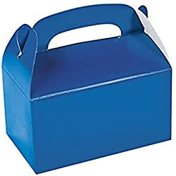 Fun Express Blue Party Favor Treat Boxes - 12 Pieces