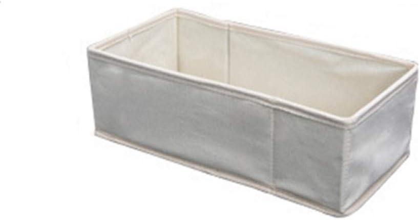 EFGDKN Caja de Almacenamiento de Lino y algodón para Ropa Interior Sujetador Contenedor Cajón Armario Organizadores Bufanda Calcetines Armario para el hogar Almacenamiento, 1 Rejilla pequeña: Amazon.es: Hogar