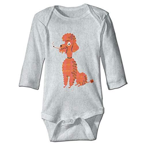 Girls Smoking Poodle Babysuit Long Sleeve Bodysuit Outfit