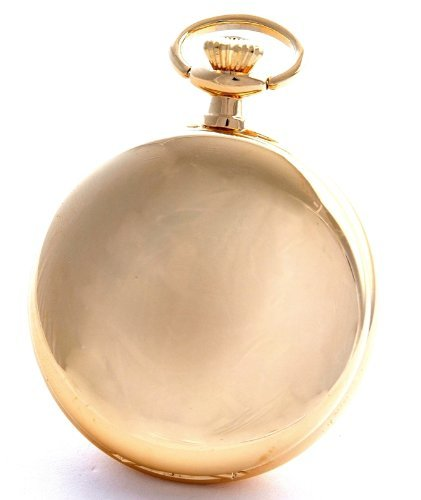 Bernex Swiss Made Gold Plated Pocket Watch Arabic Numerals