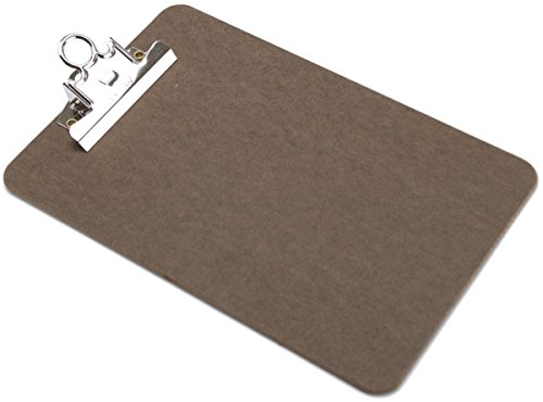 HQ Advance Products Masonite Clipboard, Memo Size, 6 x 9 Inches with Standard Clip, Brown (04008) (Brown Shade May Vary)