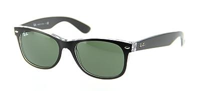 123c9bccea Image Unavailable. Image not available for. Color  Ray Ban RB2132 6052 55  Black Transparent New Wayfarer Sunglasses Bundle-2 Items