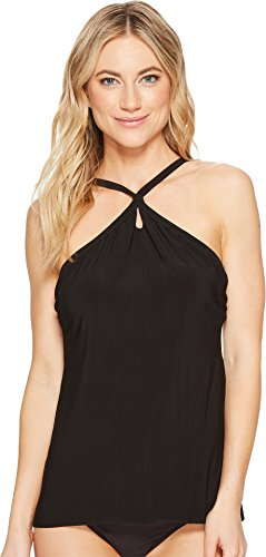 Miraclesuit Women's Solid Citizens XOXO Tankini Top Black 10 by Miraclesuit