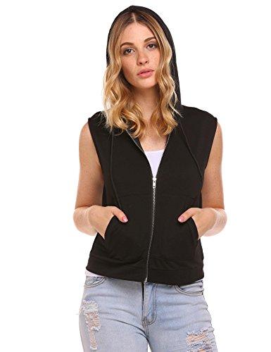 Womens Full Zip Wind Vest - 6