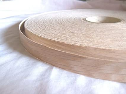 Pre Glued Iron on Oak Wood Veneer Edging Tape 18mm wide x 5metres...Free Postage vale veneers