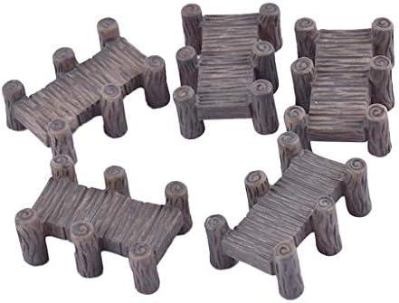 dailymall 5本 ミニ橋モデル ブリッジ模型 ミニチュア 樹脂 庭の装飾 鉄道模型 情景コレクション 風景