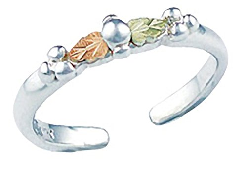 - Landstroms Black Hills Gold Jewelry Sterling Silver Toe Ring with Grapes and Leaves