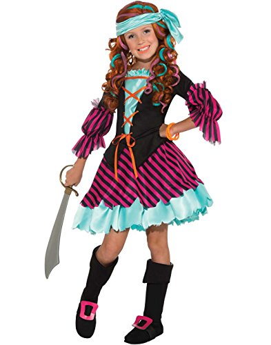 Salty Taffy Girl's Pirate Costume, -