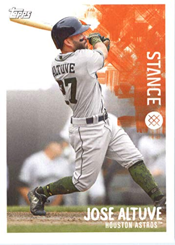 2019 Topps MLB Stickers Baseball #12 Jose Altuve/Mike Clevinger Houston Astros/Cleveland Indians Trading Card Sized Album Sticker with Collectible Card Back Cleveland Indians Photo Album