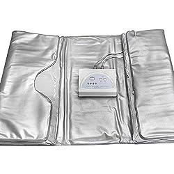TOUKUN Digital Far-Infrared (Fir) Heat Sauna Blanket 2 Zone Controller To Reduce Weight Thin Body Home Beauty