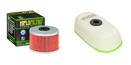 Oil and Dual-Stage Foam Air filter Kit for HONDA XR350 RD,RE,RF 83-85 HIFLO FILTRO (83 Oil)