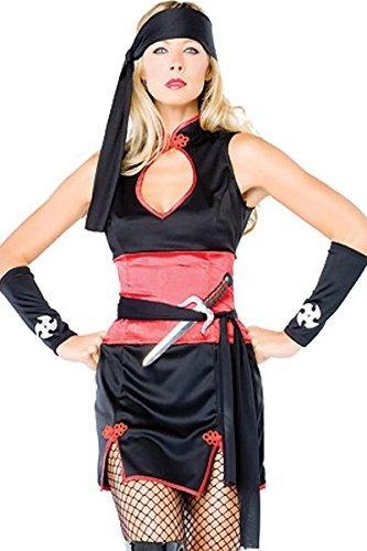 5 Piezas Set Mujer Rojo y Negro Ninja road warrior / Pirata ...