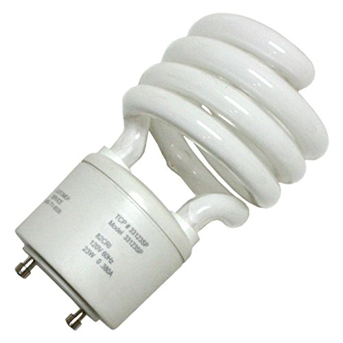 TCP CFL Spring Lamp 90W Equivalent, Daylight White (5000K) General Purpose Spiral Light Bulb GU24 Base