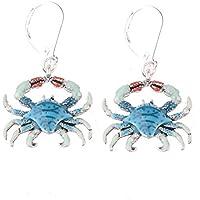 Meenanoom 1Pair Crab Shape Casual Womens Drop Earrings Jewelry Ear Hoop Cute Crab Gift