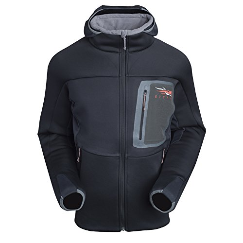 SITKA Gear Men`s Traverse Cold Weather Hoodie, M, BLACK