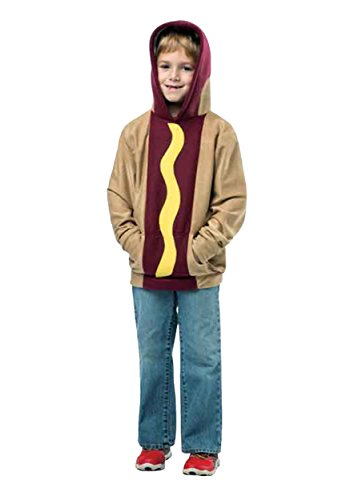 Child Hot Dog Funny Costumes (Rasta Imposta Hot Dog Hoodie, 4-6)