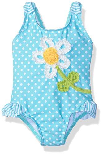 Little Me Baby Girls' Swimsuit UPF 50+ , Aqua, 24 Months