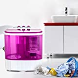 Portable Washing Machine, Kuppet 10lbs Compact Mini Washer, Wash&Spin Twin Tub Durable Design to Wash All your Laundry or Swim Suit for Apartments, Dorms, RV Camping
