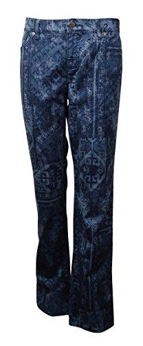 - Lauren Jeans Co. Women's Printed Modern Straight Jeans (10, Indigo Multi)