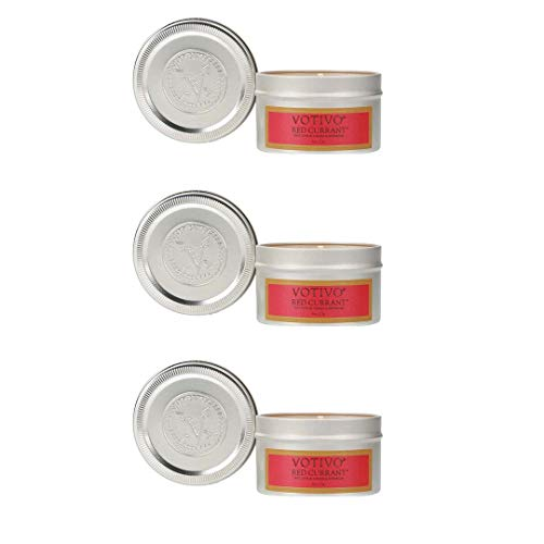 - Votivo Aromatic Travel Tin - Red Currant, 3-Pack