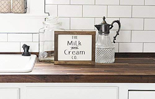 Amazon.com: The Milk and Cream Company Sign - Rustic ...