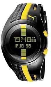 PUMA Men's PU910471001 Shift Black and Yellow Digital Watch