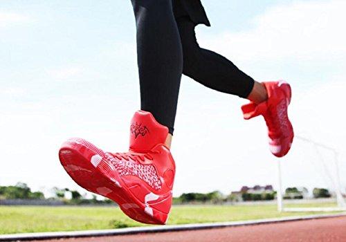 Kvinders Mænds Præstationer Sport Basketball Sko Åndbare Letvægts Mode Sneakers Af Jiye Rød GxsyE18