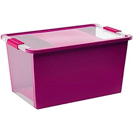 Kis 8454000 0129 01 Bi Box - Caja de Almacenamiento Plastico Morado/ Transparente, 40