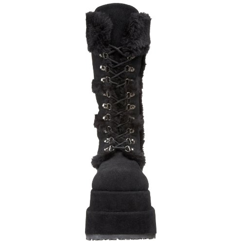 Black Vegan BEAR 202 Demonia Suede Blk OAYE48Swq