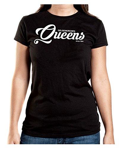 Gelsenkirchen Queens T-Shirt Girls Black Certified Freak
