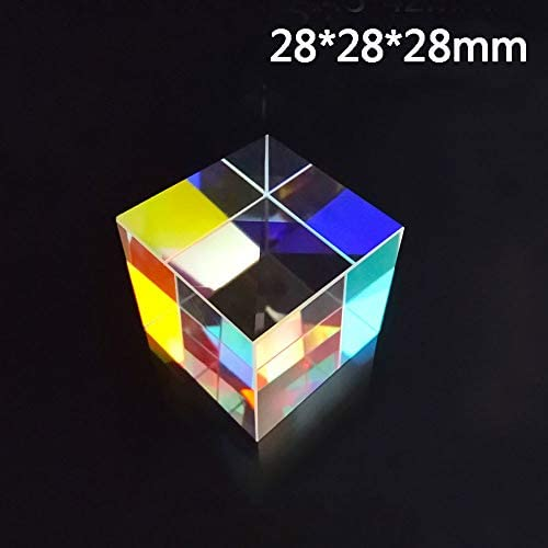 WSF-Prism 1pc Color-Collecting Prism 6-Sided Light Cube with Light Box Color Prism Square Prism Optical Glass Lens Experiment Instrument