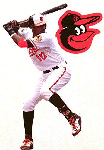 Baltimore Orioles Logo Wall Graphic (Adam Jones Mini FATHEAD + Baltimore Orioles Logo Official MLB Vinyl Wall Graphics 7