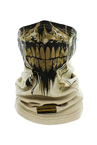 Flame Resistant Face Mask Neck Gaiter, USA Made, 6.4 Cal, Lightweight, Soft FRC (Zombie Face Gaiter (Beige)