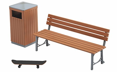 Hasegawa Model 1/12 Park Bench and trash bin -movable figure accessories- -FA10- Japan used like new