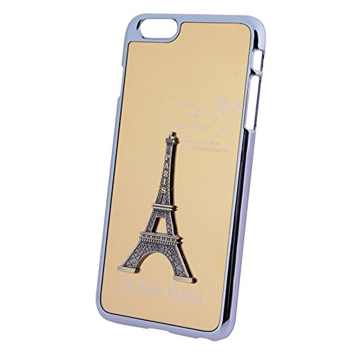 Mxnet 3D Metal Tower Dekoration Plating Skinning Hard Case für iPhone 6 & 6S rutschsicher Telefon-Kasten ( Color : Gold )