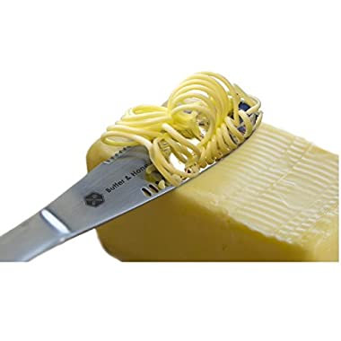 Butter Knife 403 Stainless Steel Food Grade, Butter Spreader As Magic, Roll The Butter Up and Never Tear Your Bread Best Butter Grater Innovation
