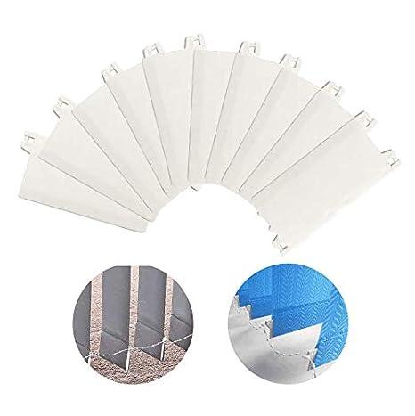 KnR Harmony Listones de Peso 89mm 24 Piezas para Sujetar Cortinas de Láminas Verticales Blanco: Amazon.es: Hogar