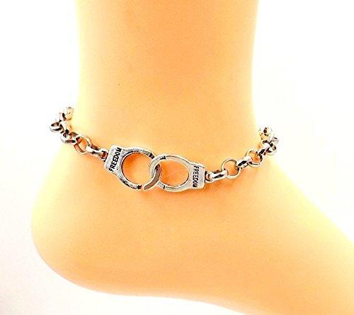 Handcuff Freedom Anklet Stainless Steel Ankle Bracelet Sizes All Sizes Men Women