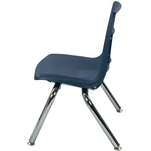 12'' Navy Stackable School Chair (4 pack)