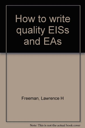 How to write quality EISs and EAs