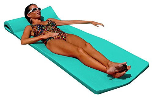 Texas Recreation Sunsation Foam Mattress Swimming Pool Float, Teal