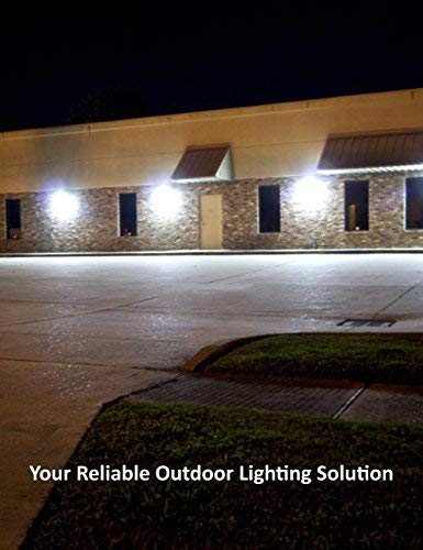 (4 Pack) 60W LED Wall Pack with Dusk-to-Dawn Photocell, IP65 Waterproof Outdoor Lighting Fixture, 200-300W HPS/MH Replacement, 7200lm 5000K 100-277Vac ETL&DLC Listed 10-Year Warranty by Kadision by kadision (Image #7)