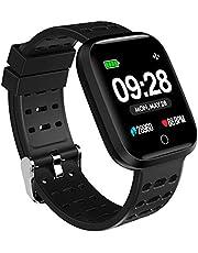 Azorex SmartWatch Multifunción Reloj Inteligente Deportivo Impermeable IP67, Pulsera Actividad Control Remoto para iPhone Xiaomi, Huawei Samsung