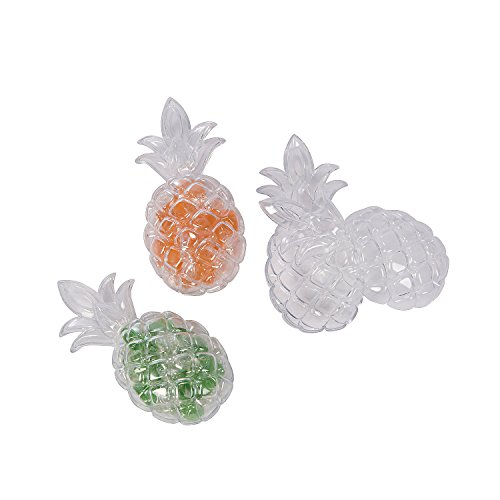 Fun Express - Pineapple Favor Containers for Party - Party Supplies - Containers & Boxes - Plastic Containers - Party - 12 Pieces -