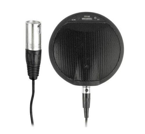 Electret Condenser Boundary Microphone - [WALLER PAA] Pro XLR 3Pin Phantom Power Boundary Tabletop Microphone Mic 6m Cable