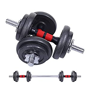 Well-Being-Matters 41pHnNF6WZL._SS300_ Nice C Adjustable Dumbbell Set, 22/33/44/66/105 Lbs Metal Barbell 2 in 1 Weight Pair, Anti-Slip Handle, All-Purpose…